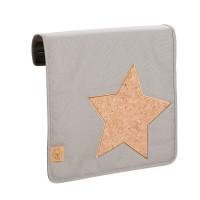 Wechselklappe Casual Messenger Bag Frontcover, Cork Star Light Grey