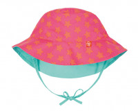 Sonnenhut Sun Protection Bucket Hat, Peach Stars