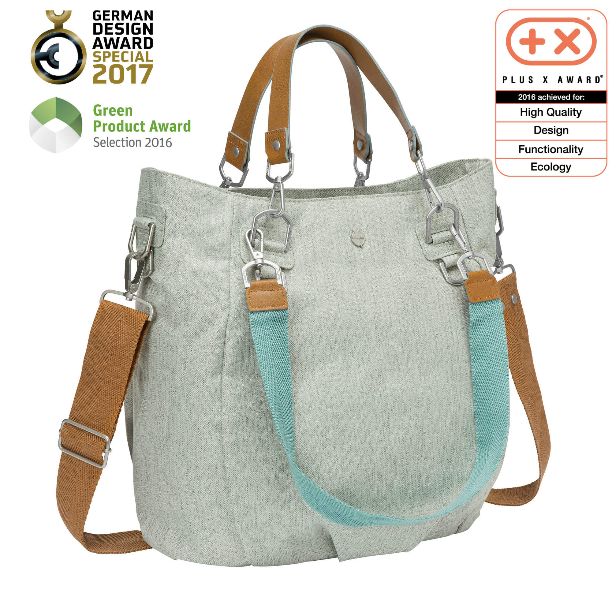 Wickeltasche mix n match bag light grey lÄssig fashion