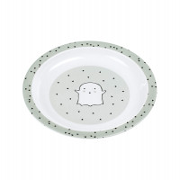 Kinderteller - Plate Melamin, Little Spookies Olive