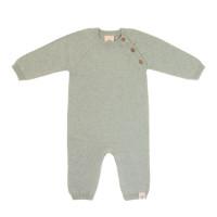 Strampler - Knitted Overall GOTS, Garden Explorer Aqua Grey