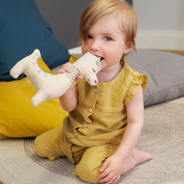 LAESSIG-Tipps-Babyspielzeug-Glama-Lama-Rassel-Greiflinge-Beissringe