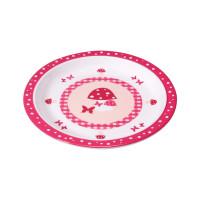 Kinderteller Plate Melamine, Mushroom Magenta