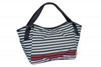 Zwillingstasche - Twin Bag, Striped zigzag navy