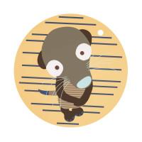 Tischset Silicone Placemat, Wildlife Meerkat