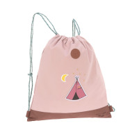 Turnbeutel -  Mini String Bag, Adventure Tipi