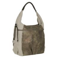 Wickeltasche Hobo Bag, olive-beige