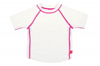 UV-Shirts Rashguard Short Sleeve Girls, White