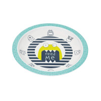 Kinderteller Plate Melamine, Little Monsters Bouncing Bob