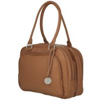 Wickeltasche - Multizip Bag cognac