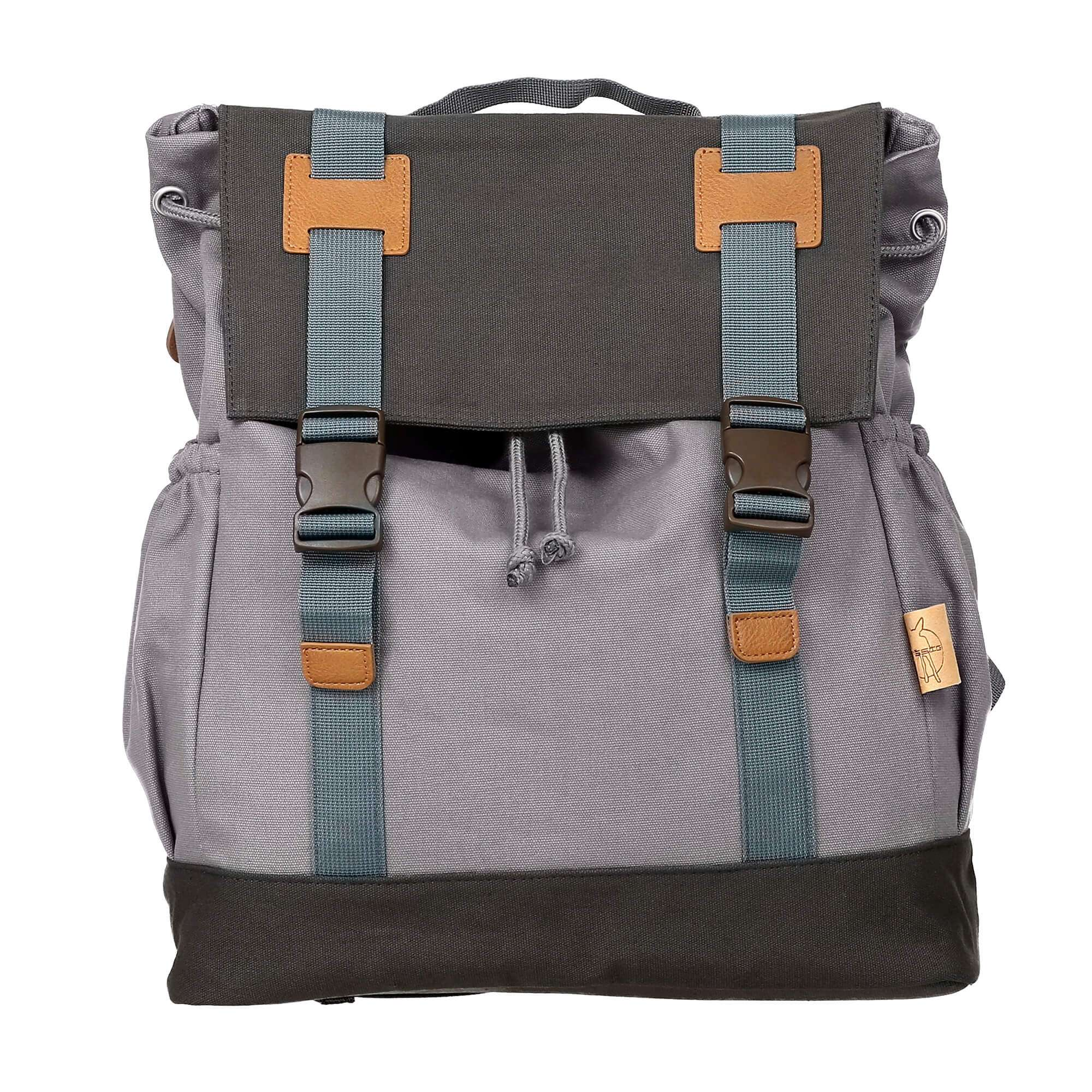 Wickelrucksack Little e & Me Backpack big grey