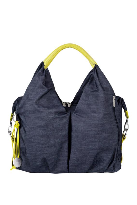 Wickeltasche neckline bag denim blue lÄssig fashion