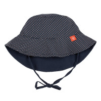 Sonnenhut Sun Protection Bucket Hat, Polka Dots Navy