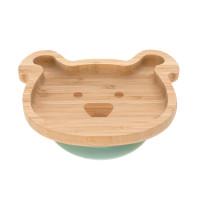 Bambus Kinderteller mit Saugnapf - Platter, Little Chums Dog