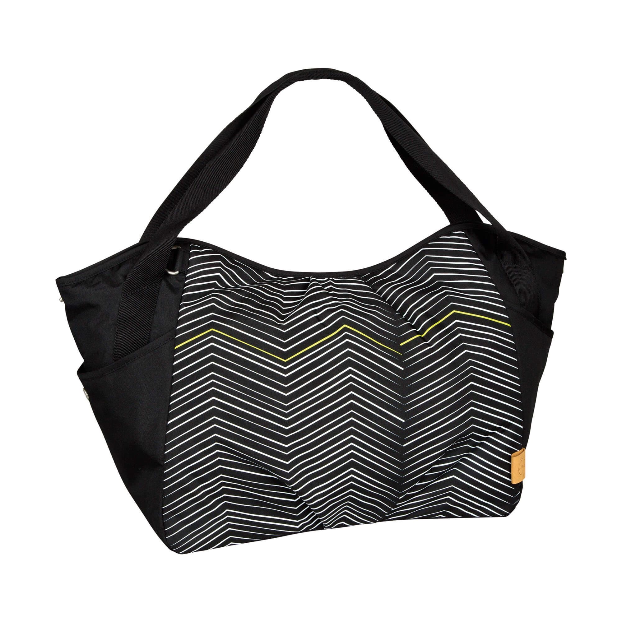 Lässig zwillingstasche twin bag zigzag black white