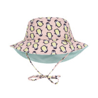 Sonnenhut für Kinder - Sun Protection Bucket Hat, Penguin peach