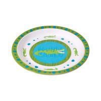 Kinderteller Plate Melamine, Crocodile Granny