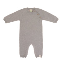Strampler - Knitted Overall GOTS, Garden Explorer Grey