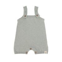 Baby Jumpsuit - Knitted Jumpsuit GOTS, Garden Explorer Aqua Grau