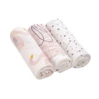 Mulltücher - Heavenly soft Swaddle L, Little Water Swan