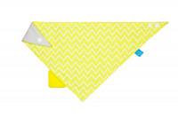 Bandana with silicone teether-Zigzag yellow