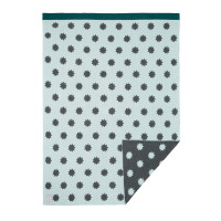 Babydecke - Knitted Baby Blanket, Little Chums Stars Light Mint