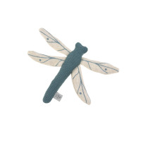Kuscheltier mit Rassel & Knisterpapier - Knitted Toy, Garden Explorer Libelle Blau