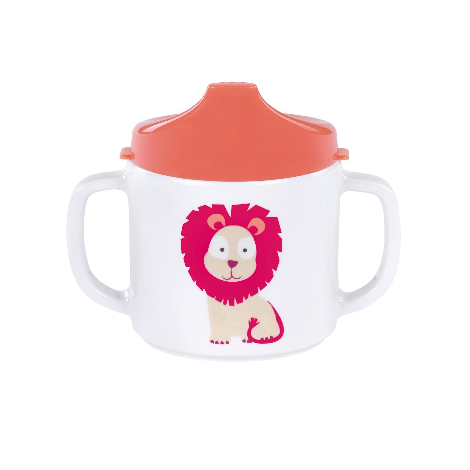 Lässig trinklernbecher dish cup melamin wildlife lion