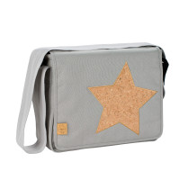 Wickeltasche Casual Messenger Bag, Cork Star Light Grey