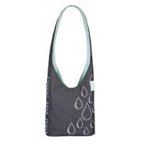 Umhängetasche Charity Shopper Ecoya®, anthracite-misty jade