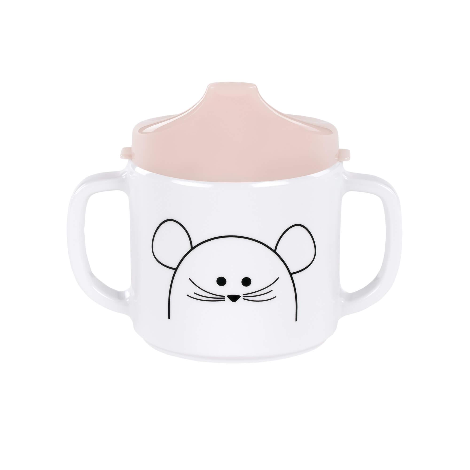 Lässig schnabeltasse dish cup melamine little chums mouse