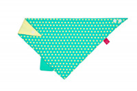 Dreieckstuch Baby - Bandana with silicone teether, Dottie green