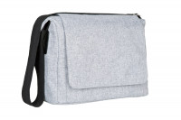 Wickeltasche Small Messenger Bag Update, black mélange