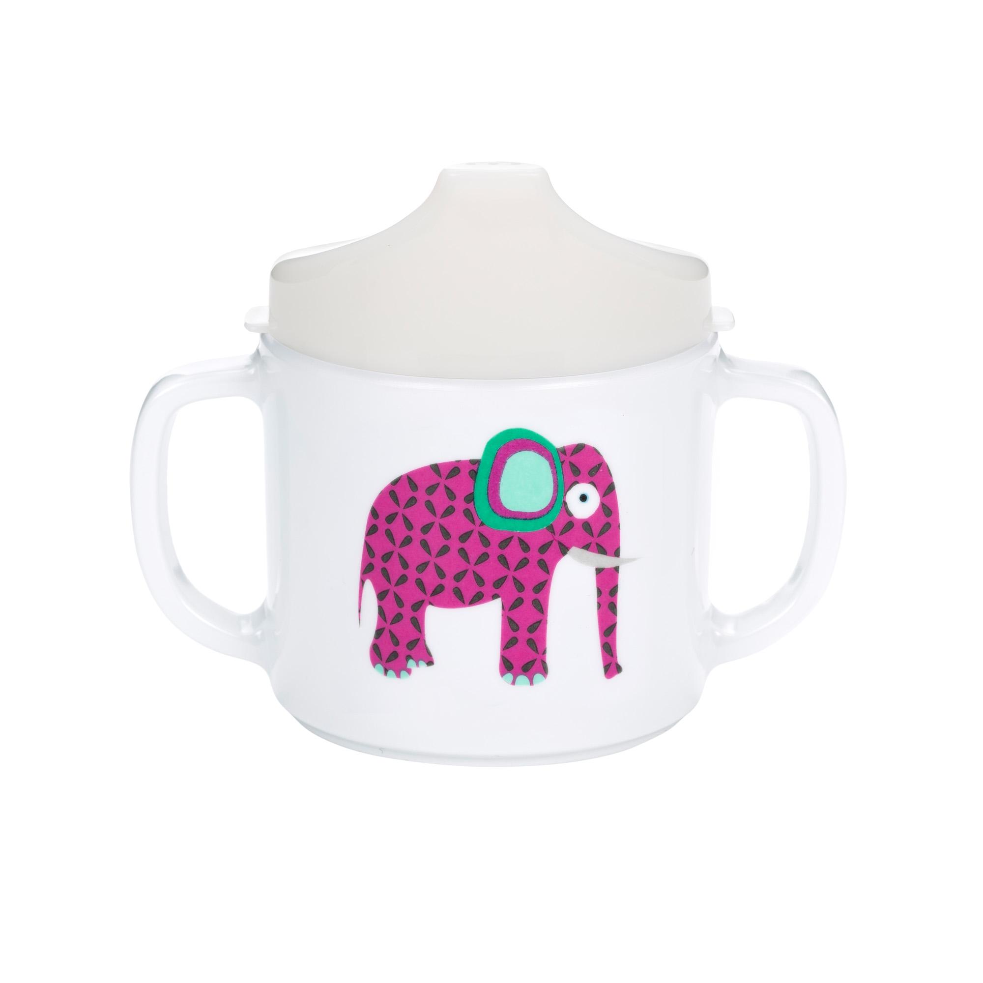 Lässig trinklernbecher handle cup with lid wildlife