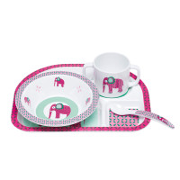 Kindergeschirr Dish Sets, Wildlife Elephant