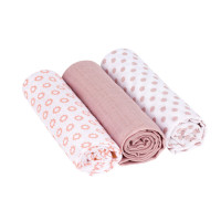 Mulltücher -  Muslin Swaddle & Burp Blanket L, Little Chums Stars Light Pink