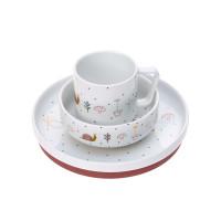 Kindergeschirr Set Porzellan - Dish Set, Garden Explorer Schnecke