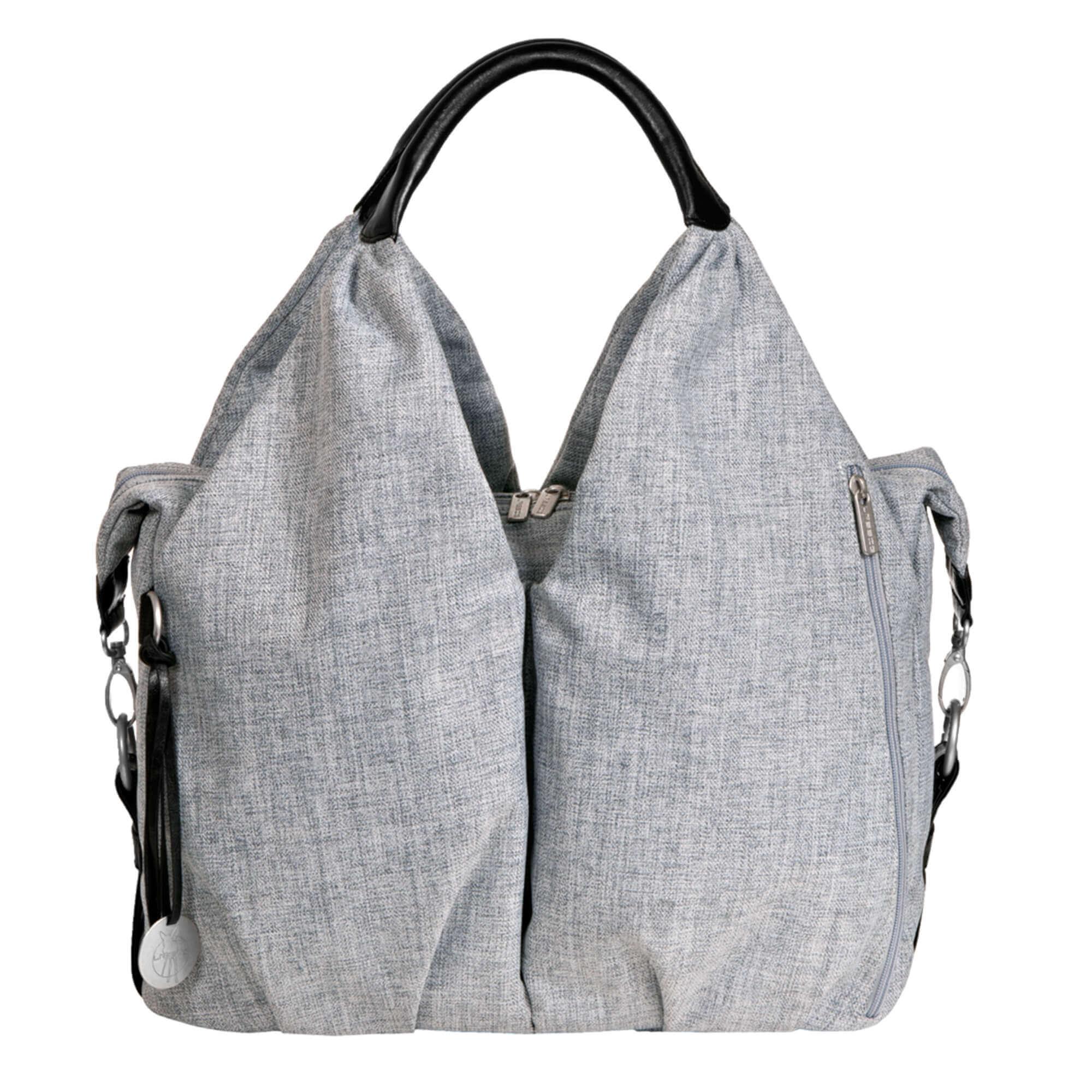 Wickeltasche neckline bag black mélange lÄssig fashion