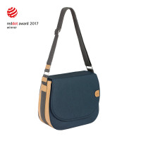 Wickeltasche Green Label Saddle Bag Spin Dye, Blue Mélange