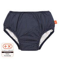 Schwimmwindel Swim Diaper Girls, Polka Dots Navy