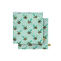 Frühstücksbeutel (2 Stk) - Snack Bag, Wildlife Turtle
