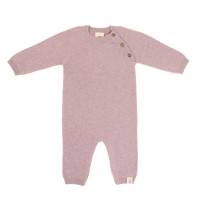 Strampler - Knitted Overall GOTS, Garden Explorer Light Pink