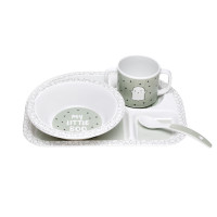 Kindergeschirr Set - Dish Set, Little Spookies Olive