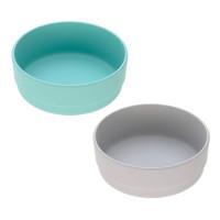 Schälchen mit Bambus im Set (2 Stk) - Bowl, Turquoise - Grey