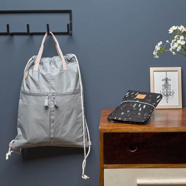 LAESSIG-Coole-Kombi-String-Bag-grey-und-Windeltasche-black-Changing-Pouch-Alternative-zur-Wickeltasche5c9a24da42031